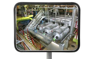 Miroir Multi-Usages rond spéciales agro-alimentaires - Garantie 10 ans - 400 x 600 mm