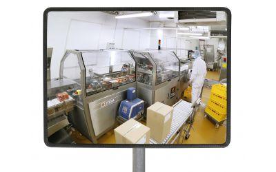 Miroir Multi-Usages rond spéciales agro-alimentaires - Garantie 10 ans - 400 x 800 mm