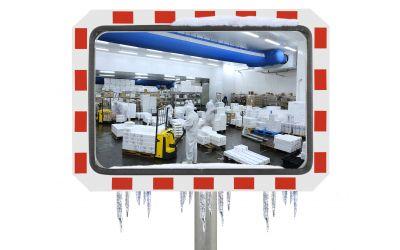 Miroir pour l'Industrie rond - ANTIGIVRE Garantie 10 ans - diamètre 450 x 600 mm