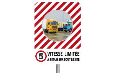 """Miroir à message de sécurité """"VITESSE LIMITÉE"""""""