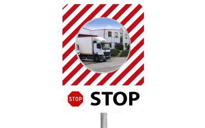 """Miroir à message de sécurité """"STOP"""""""