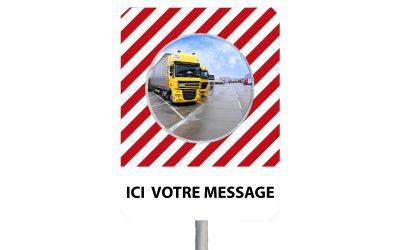 """Miroir à message de sécurité """"MESSAGE DE VOTRE CHOIX"""""""