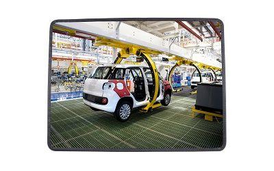 Miroir multi-usages rond pour l'intérieur - Garantie 3 ans - dimensions 400 x 600 mm
