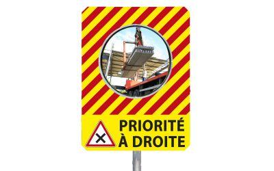 "Miroir de chantier ""PRIORITE A DROITE"""