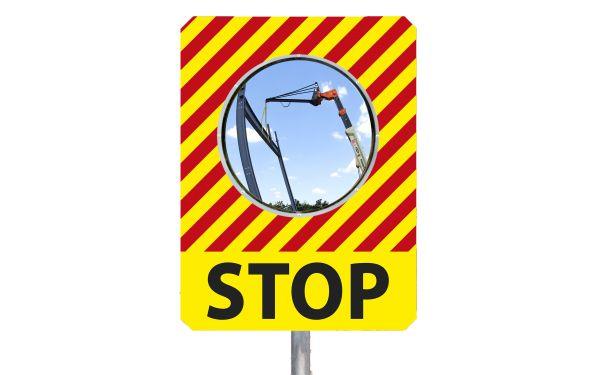 "Miroir de chantier ""STOP"""