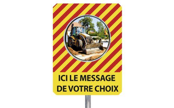"""Miroir de chantier """"MESSAGE DE VOTRE CHOIX"""""""