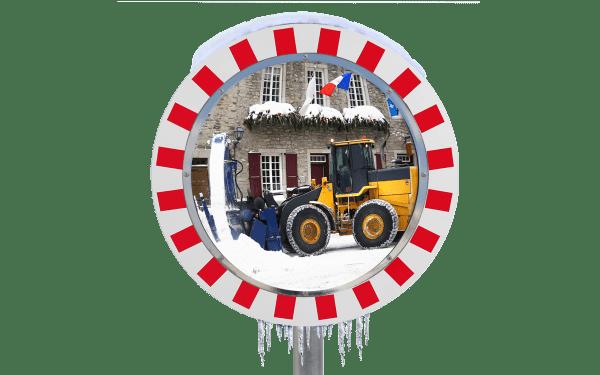 Miroirs antigivres pour industries et voies privées vision 90°