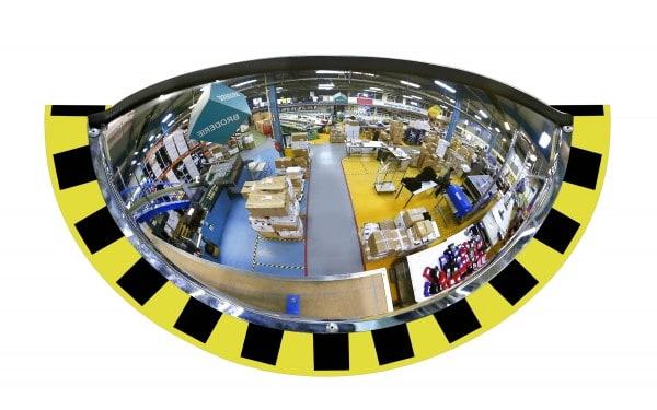 Demi-miroirs de contrôle pour entrepôts et logistique vision 180°